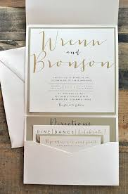 wedding invitation pocket bronson wedding invitation large pocketfold with ribbon tie pocket