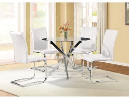 tori 5 piece dining package white glass furniture pinterest