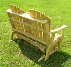 treated wood adirondack glider bench backyard world pictures with