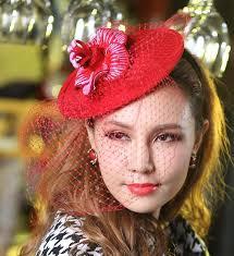 2017 women vintage hat fashion dress party hair accessories women