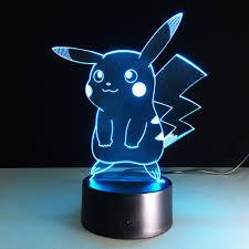 halloween kids images aliexpress com buy new pokemon lamp 3d pikachu night light