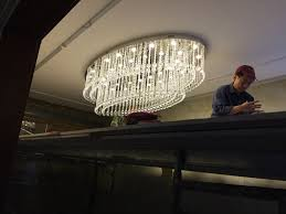 Oval Crystal Chandelier Decorations Cool Ball Glass Contemporary Chandelier Design With