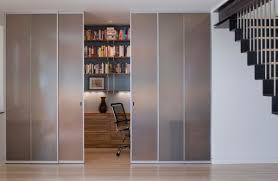 Closet Glass Door Doors Closet Styled Frosted Glass Doors To Tuck Away Home Office
