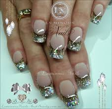 nail designs with gold glitter