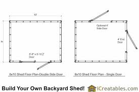 shed floor plans 8x10 shed plans storage shed build a shed icreatables com