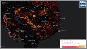 nasa releases images of dramatic deforestation in cambodia