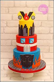 transformer cake transformers 3 tier birthday cake michael s birthday