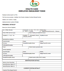 mee seva health card employee application form apply online forms