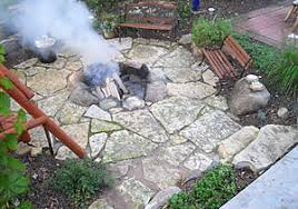Backyard Fire Ring by Outdoor Fireplaces And Fire Rings Landscaping And Landscape