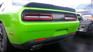 Dodge Challenger Green - 2017 dodge challenger t a 392 manual 6 speed in green go youtube