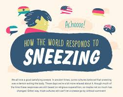 sneezing around the world how different cultures respond infographic