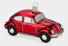 vw beetle and glass tree ornaments retro to go