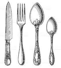 kitchen forks and knives vintage silverware knife fork and spoon stock vector more