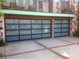 How To Frame A Garage Door by Amarr Vista Full View Aluminum Glass Garage Doors On Trac Garage