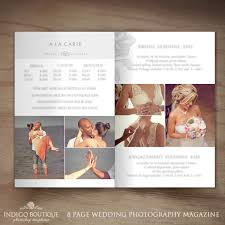 wedding magazine template photography magazine template client welcome guide price guide