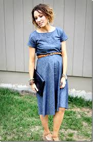 maternity style chambray dress maternity style one momma