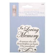 in memory of wedding program in loving memory candle decal 3 x 3 5 inches wedding table