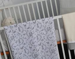 fox crib bedding etsy