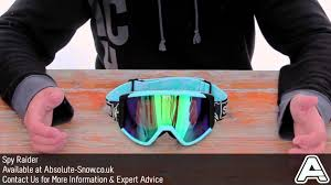 spy motocross goggles spy raider goggles video review youtube