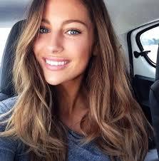 nice makeup mathilde geohler ash brown hair blue eyes