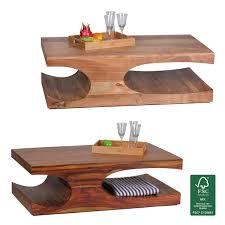 Wohnzimmertisch Holz Quadratisch Finebuy Couchtisch Massiv Holz Sheesham 90 Cm Breit Design