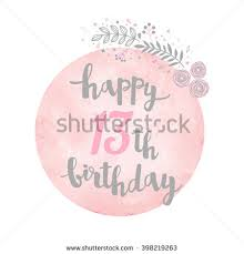 happy 13th birthday greeting card floral stock vector 398219263