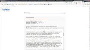 Indeed Jobs Upload Resume by Post A Job On Indeed Youtube