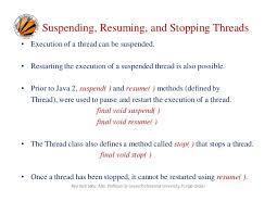 suspend and resume multi threading