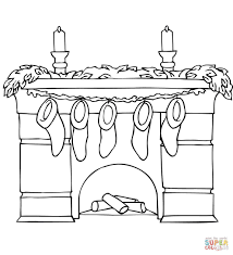 christmas fireplace coloring pages learntoride
