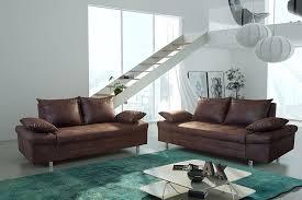 canapé tissu marron salon fixe complet 3 2 en tissu marron vieilli ultimo ensemble