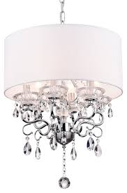 Crystal Drum Shade Chandelier Drum Shade Ceiling Fixture Contemporary Chandeliers By