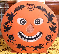 vintage beistle halloween jack o lantern die cut decoration