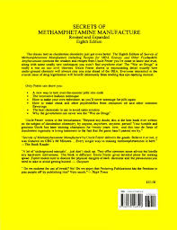 secrets of meth manufacture by recovery rocks cafe book library