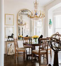 eclectic dining side with mixed dining chairs dining room