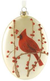 symbol of the cardinal glass ornament home kitchen