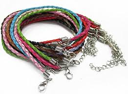cord necklace clasp images All in one mixed color braided leather cord necklace with lobster jpg