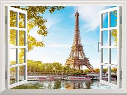 amazon com wall26 removable wall sticker wall mural eiffel amazon com wall26 removable wall sticker wall mural eiffel tower view out of the open window creative wall decor 36