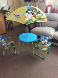 mickey mouse end table mickey mouse patio set in alloa clackmannanshire gumtree