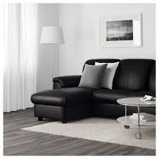 Ikea Chaise Lounge Sofa by Timsfors Two Seat Sofa With Chaise Longue Mjuk Kimstad Black Ikea