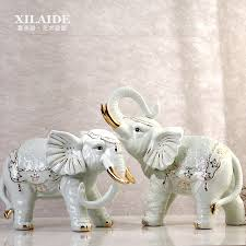 home decor elephants green ceramic lucky elephant statue home decor crafts room wedding
