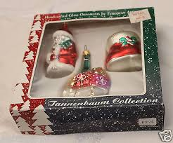 tannenbaum collection 3 handcrafted glass ornaments poland santa