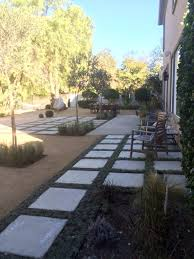 drought tolerant decomposed granite dg and concrete stepping