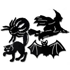 vintage halloween cartoons halloween silhouettes