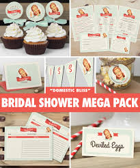 Kitchen Shower Ideas 50s Housewife Bridal Shower Mega Pack Instant Download Retro