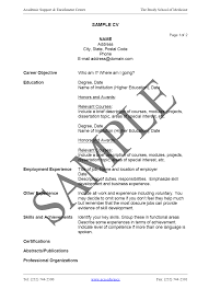Format Of A Resume 6 An Example And Format Of A Good Curriculum Vitae Budget