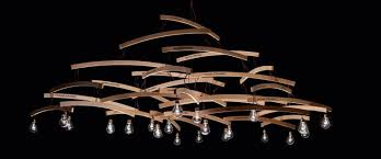 Wood Chandelier Wood Chandelier With Recycled Hangers Id Lights