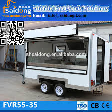 customized multifunctional fast food van mobile kitchen truck with
