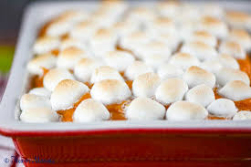 sweet potato casserole with marshmallows flavor mosaic