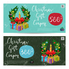 xmas gift christmas gift voucher template gift coupon with xmas attributes