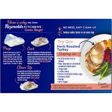reynolds kitchens turkey size oven bags 2 ct box walmart com
